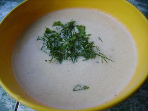 Крем-суп с курицей и цветной капустой