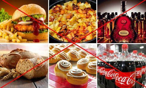Запрещенные продукты при циррозе